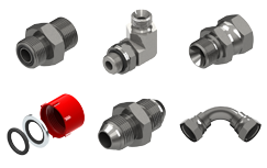 Hydraulic Fittings & Adaptors - Burnett & Hillman Multiple adaptors and fittings set number 4
